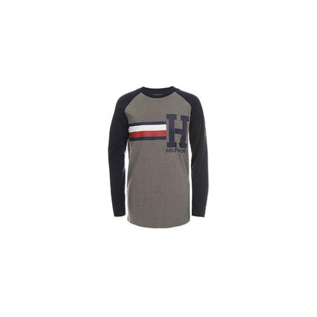 TOMMY HILFIGER- חולצת טי שרט ארוכה דגם ragian