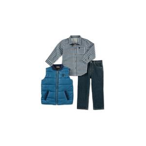 CALVIN KLEIN- סט 3 חלקים ווסט מכופתרת וג'ינס