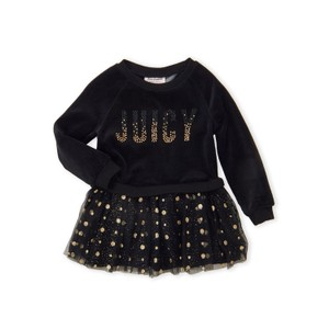 JUICY COUTURE- שמלה שחורה עם נקודות זהב