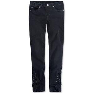 LEVI'S- ג'ינס ליוויס שחור משופשף דגם 710 סופר סקיני