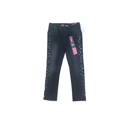 LEE- ג'ינס שחור סקיני עם נצנצים