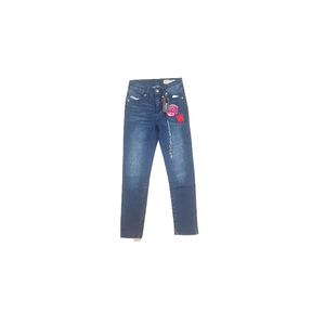 DIESEL- ג'ינס דיזל סקיני כחול כהה דגם מיוחד עם הדפס פרחים