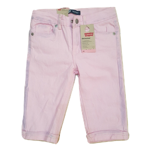 LEVI'S- ג'ינס ליוויס ברמודה סקיני צבע ורוד דגם skimmer