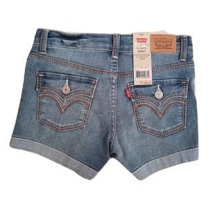LEVI'S- ג'ינס ליוויס שורט כחול שופשף