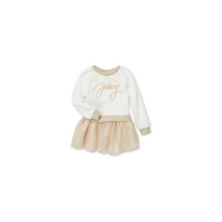 JUICY COUTURE- שמלת בייבי זהב עם תחתוני חיתול תואמים