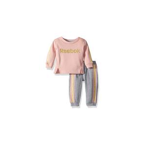 REEBOK- סט 2 חלקים ורוד אפור