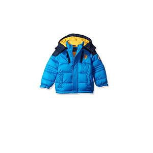 U.S POLO- מעיל כחול צהוב מחמם במיוחד עם קפוצ'ון