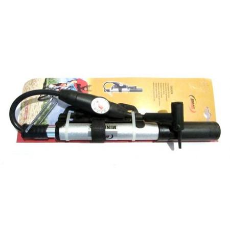 משאבה ידנית לאופניים / אופנוע כולל מד לחץ