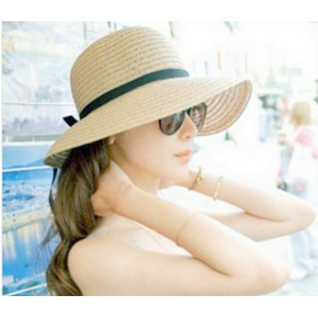 כובע ליידי רחב שוליים אופנתי לאישה