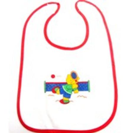 סינר איכותי לתינוק עם סגירת סקוץ' ואיורים לילדים
