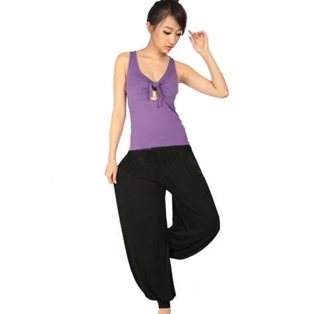מכנסי יוגה איכותיות 100% כותנה גזרה רחבה ונוחה תואם L-XL