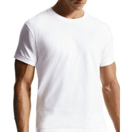 חולצת כותנה איכותית לגבר בצבע לבן