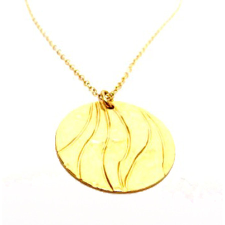 תליון מרשים בציפוי זהב +שרשרת גולדפילד