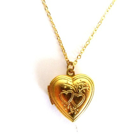 תליון לב נפתח בציפוי זהב + שרשרת גולדפילד איכותית
