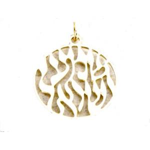 תליון שמע ישראל 1 מיקרון זהב במראה קלאסי +שרשרת איכותית מיקרון זהב