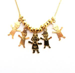 תליון ילד / ילדה / ילדים איכותיים 1 מיקרון זהב +שרשרת איכותית