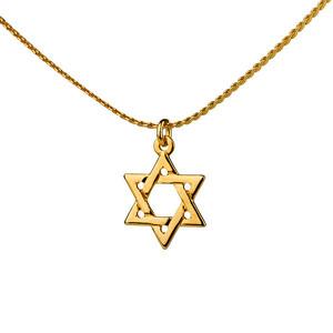 תליון מגן דוד 2 מיקרון זהב +שרשרת איכותית 2 מיקרון זהב