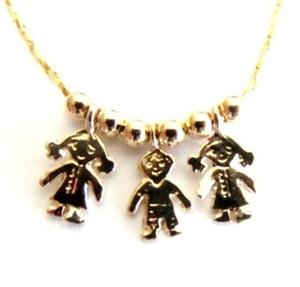 תליון ילד / ילדה / ילדים איכותיים 2 מיקרון זהב +שרשרת איכותית