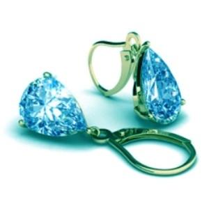 זוג עגילי זירקון טופז בחיתוך טיפה במראה מיוחד לנשים האוהבות תכשיטים עם נוכחות