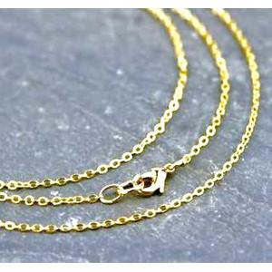 """שרשרת 2 מיקרון זהב באורך 60 ס""""מ מראה לינקים קטנים +תליון מתנה"""