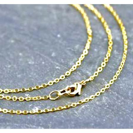 """שרשרת 2 מיקרון זהב באורך 50 ס""""מ מראה לינקים קטנים"""