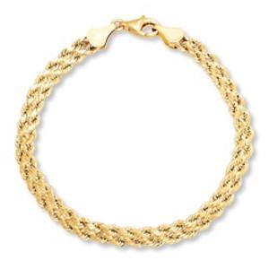 צמיד מיקרון זהב במראה צמה UNISEX
