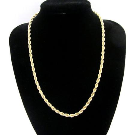 """שרשרת מיקרון זהב במראה צמה - 45 ס""""מ"""