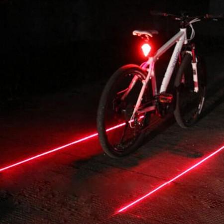 פנס בטיחות עוצמתי לאופניים - תאורת לד / פלש - נגד מים