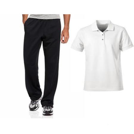 מכנס ספורט משובח לגבר מנדף זיעה + חולצת פולו איכותית מנדפת זיעה