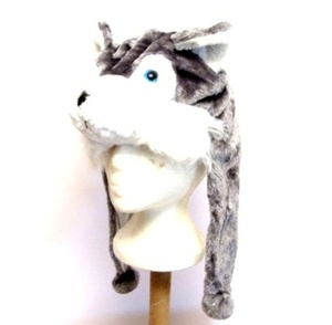 כובע לפורים בדמות זאב שלג