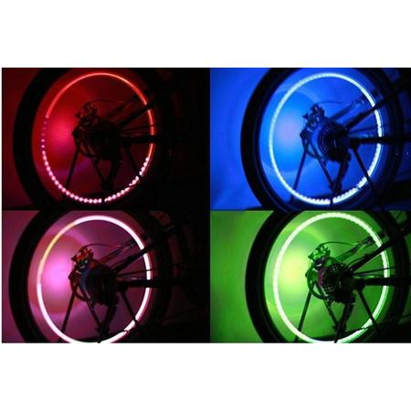 3 זוגות ( 6 יח' ) פנסי לד לגלגלי אופניים - לתאורה מיוחדת בלילה