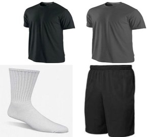 ביגוד ספורט מדרייפיט לגבר מכנס+חולצה+ 3 זוגות גרבי ספורט מכותנה