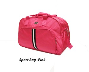 תיק ספורט / תיק לחדר כושר חזק ואכותי PINK COLOR
