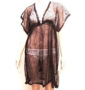 שמלת טוניקה לים ולבריכה מעל הבגד ים - רקמת כותנה איכותית במראה רשת