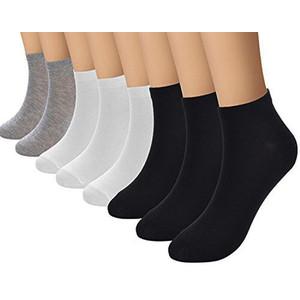 12 זוגות גרבי ספורט מכותנה לנידוף הזיעה לנשים / גברים ( עקביות / קרסול )
