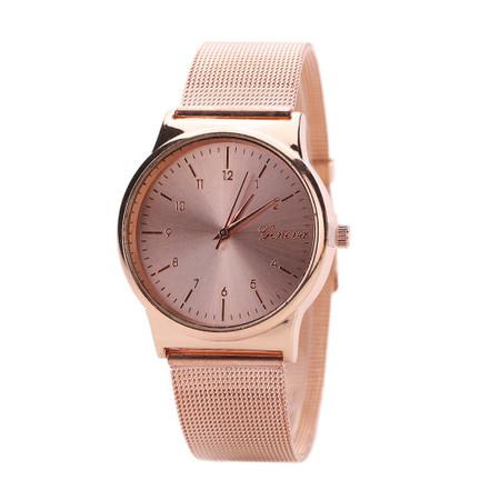 שעון מרשים לאישה במראה ROSE GOLD -מנגנון קוורץ
