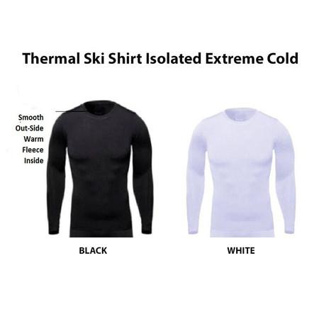 2 חולצות סקי טרמיות /תרמיות עם שכבת פליז לבידוד מקור קיצוני מעולה לספורט חורף / סקי במבחר מידות UNISEX STYLE