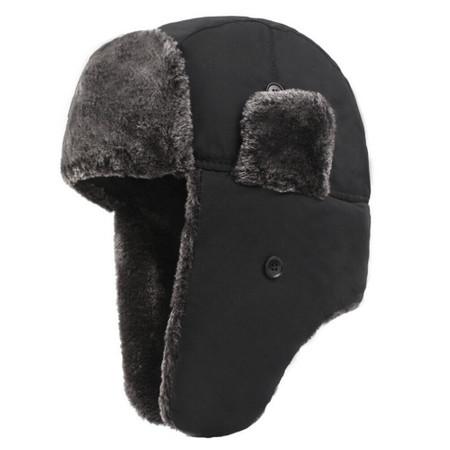 כובע חורף תרמי פרוותי נגד גשם לשמירת חום בפנים - דגם משובח ונעים למגע
