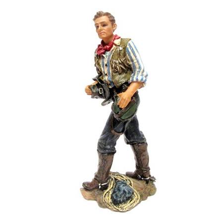 פסלון מרשים בדמות קאובוי cowboy - עשוי פימו