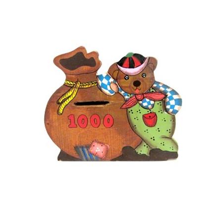 קופסת חסכון מעץ לחדר ילדים
