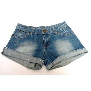 מכנס ג'ינס קצר לנוחיות מרבית תואם מידה L