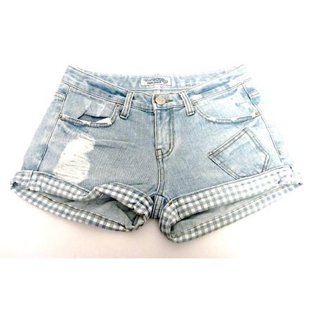 מכנס ג'ינס קצר במראה מיוחד לאישה תואם מידה L