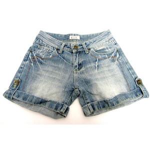 מכנס ג'ינס קצר לאישה לנוחיות מרבית תואם למידות M-L