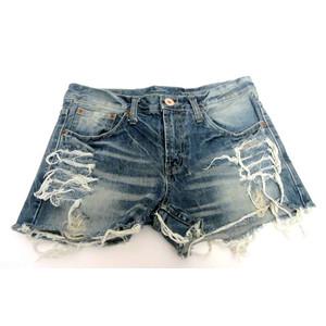 מכנס ג'ינס קצר לנשים מראה קייצי סקסי תואם למידות L-XL