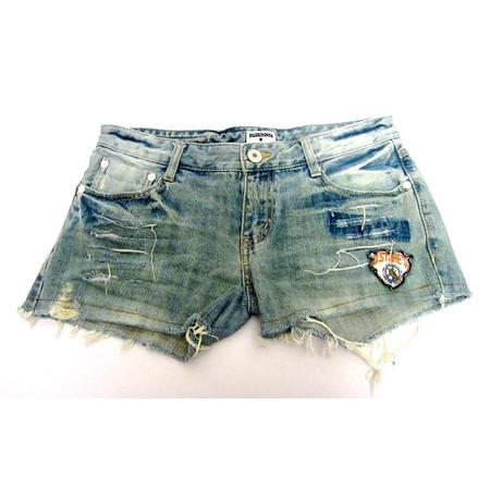 מכנס ג'ינס קצר וסקסי לאישה תואם למידות L-XL