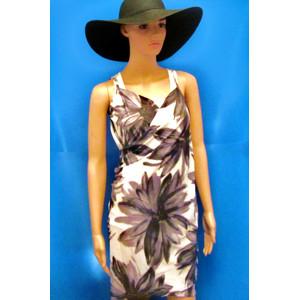 שמלה חשופת גב עם הדפסים מיוחדים לים ולבריכה למידות S-M