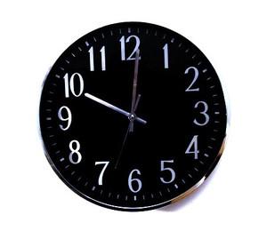 """שעון קיר גדול קוטר 41 ס""""מ במראה קלאסי למשרד ולבית"""