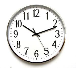 """שעון קיר גדול בקוטר 40 ס""""מ לבית ולמשרד - מראה קלאסי"""