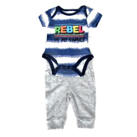 סט ביגוד קייצי אופנתי לתינוק 100% כותנה נעימה למגע מכנס+בגד גוף ( בן / בת )