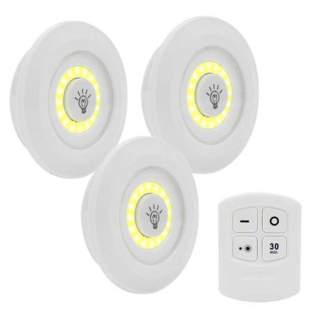 3 מנורות לד עוצמיות עם שלט לויסות עוצמת התאורה לכל אזור וחדר בבית / משמש גם כתאורת חירום